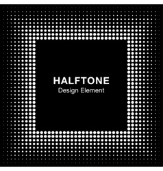 White Abstract Halftone Square Frame Background vector image vector image