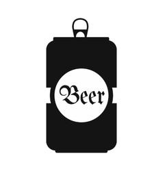 Beer black icon vector image vector image