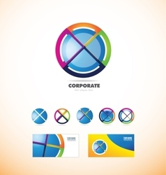 Corporate business sphere circle logo vector image vector image