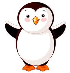 Cute baby penguin vector image vector image