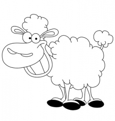 outlined sheep vector image vector image