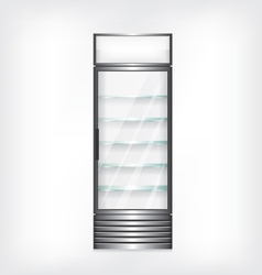Refrigerator with glass shelves vector image vector image