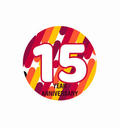15 year anniversary purple template design vector