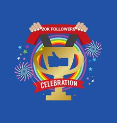 20k likes celebration sign symbol vector