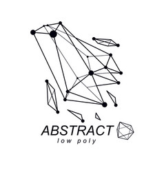 3d polygonal geometric faceted object abstract vector image