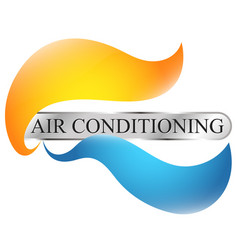 air conditioning and home heating symbol design vector image