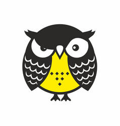 Angry owl vector