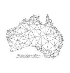 Australia low poly connected triangle geometric vector