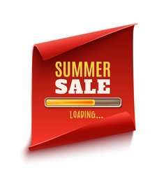 big summer sale loading poster vector image