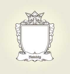 blank template of coat of arms - shield vector image