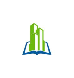 Building book logo icon design vector