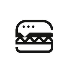 Burger pictograph or icon design vector