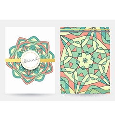 Business cover vintage style Paper with geometric vector image