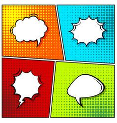 Cartoon comic backgrounds set speech bubble vector