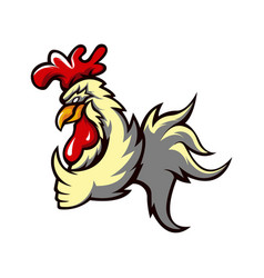 Chicken rooster athletic club logo concept vector