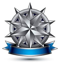classic emblem isolated on white background vector image