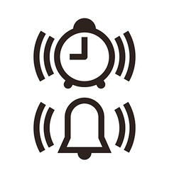 Clock and alarm icon vector image