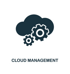 cloud management icon monochrome style design vector image