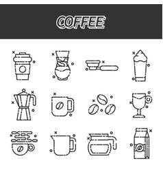 coffee cartoon concept icons vector image