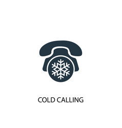 Cold calling icon simple element vector