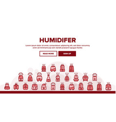 Collection different humidifier icons set vector