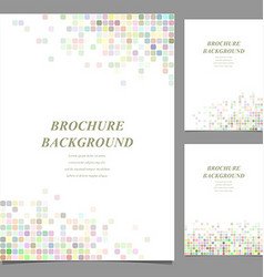 Colored abstract square mosaic brochure design vector image