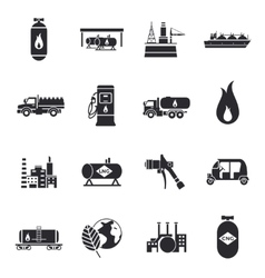Compressed And Liquid Natural Gas Icons vector