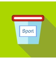 Containers for sports nutrition icon flat style vector image