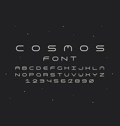 Cosmos regular font alphabet vector