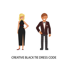 Creative black tie dress code vector