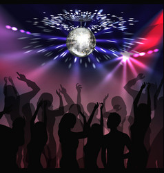 Disco party dancefloor vector