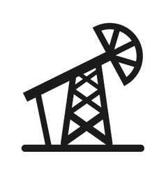 drill oil industry icon vector image vector image