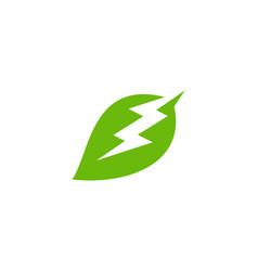 eco power logo icon design vector image