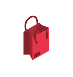 Ecommerce business internet shopping bag icon vector