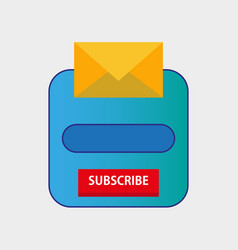Email subscribe newsletter popup form template vector