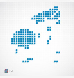 Fiji map and flag icon vector