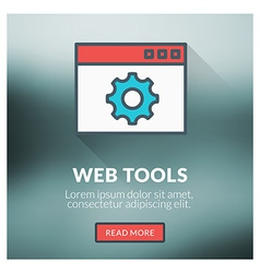 Flat design concept for web tools with blur vector