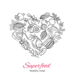 Hand drawnn superfood vector