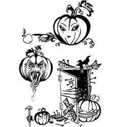 Happy Halloween - set vector