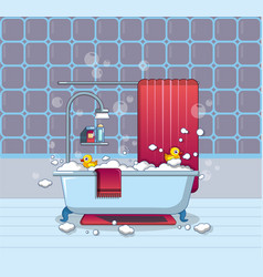 home bathroom icon cartoon style vector image