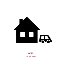 Home Black And White Icon vector
