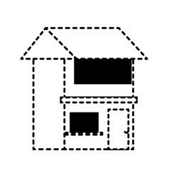 house sticker vector image