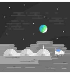 Human base on moon vector