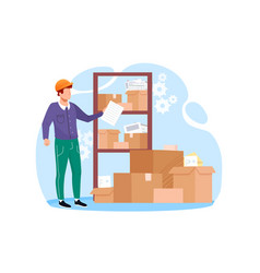 Inventory management with goods demand and stock vector