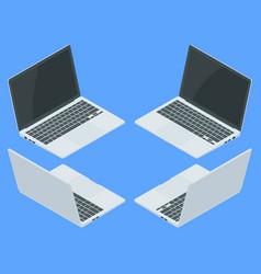 isometric laptop computer realistic vector image