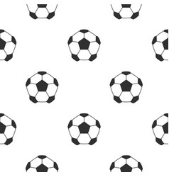 Leather soccer ball pattern seamless vector