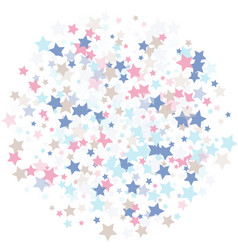 luxury background of confetti stars in calm tones vector image