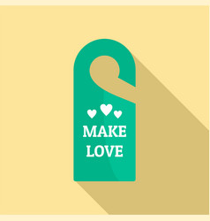 Make love hanger tag icon flat style vector
