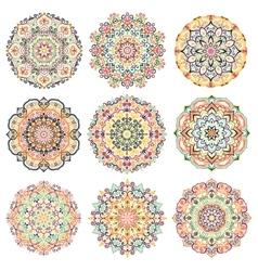 Mandalas Design Elements Colorful vector