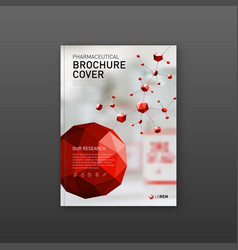 Medical brochure cover template or flyer vector